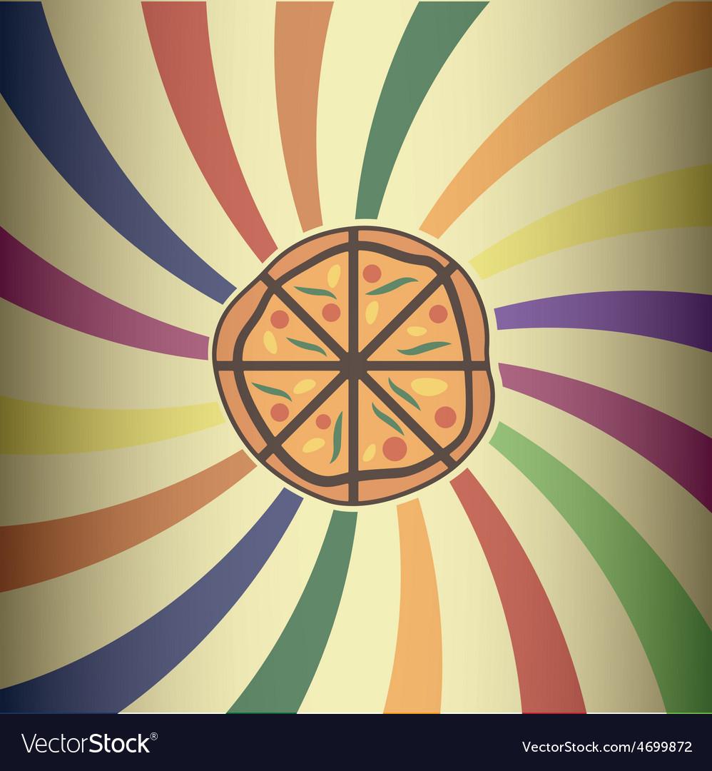 Retro pizza design vector | Price: 1 Credit (USD $1)