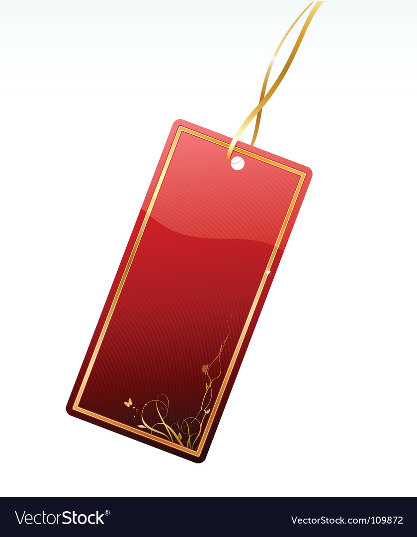 Shiny red price tag vector | Price: 1 Credit (USD $1)