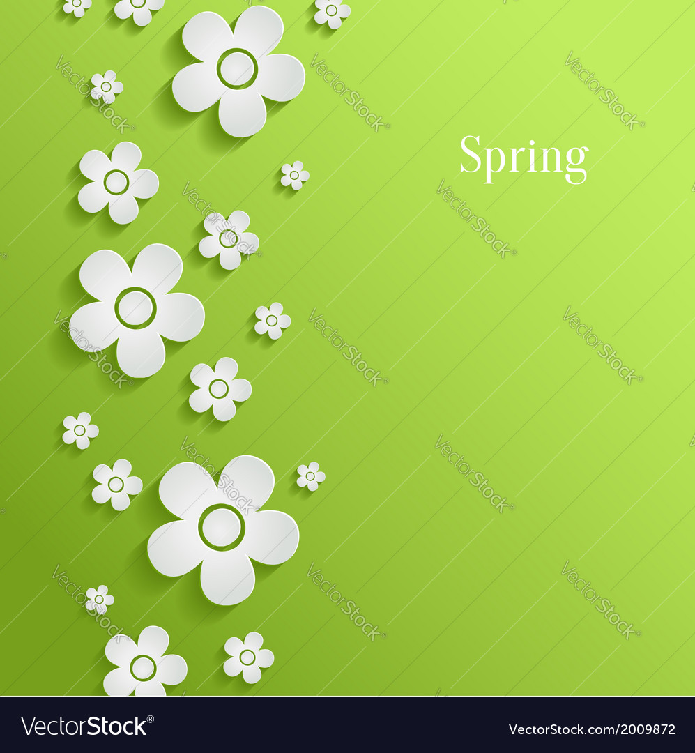 Spring flowers background vector   Price: 1 Credit (USD $1)