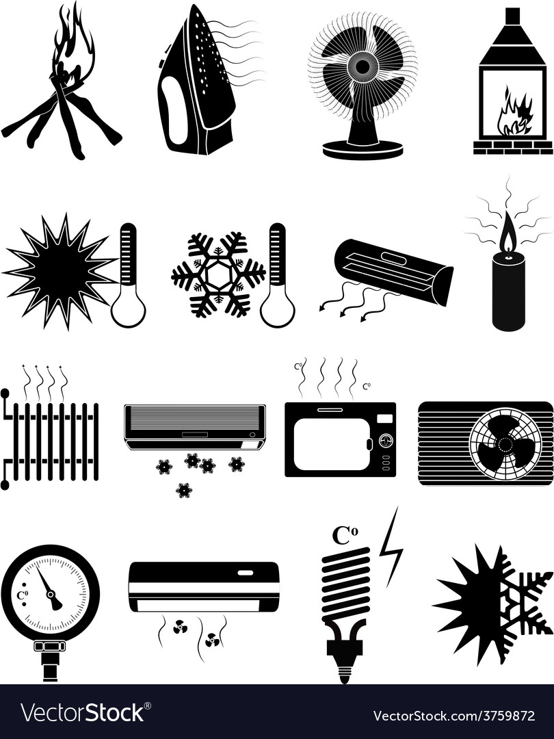 Ventilation icons set vector | Price: 1 Credit (USD $1)