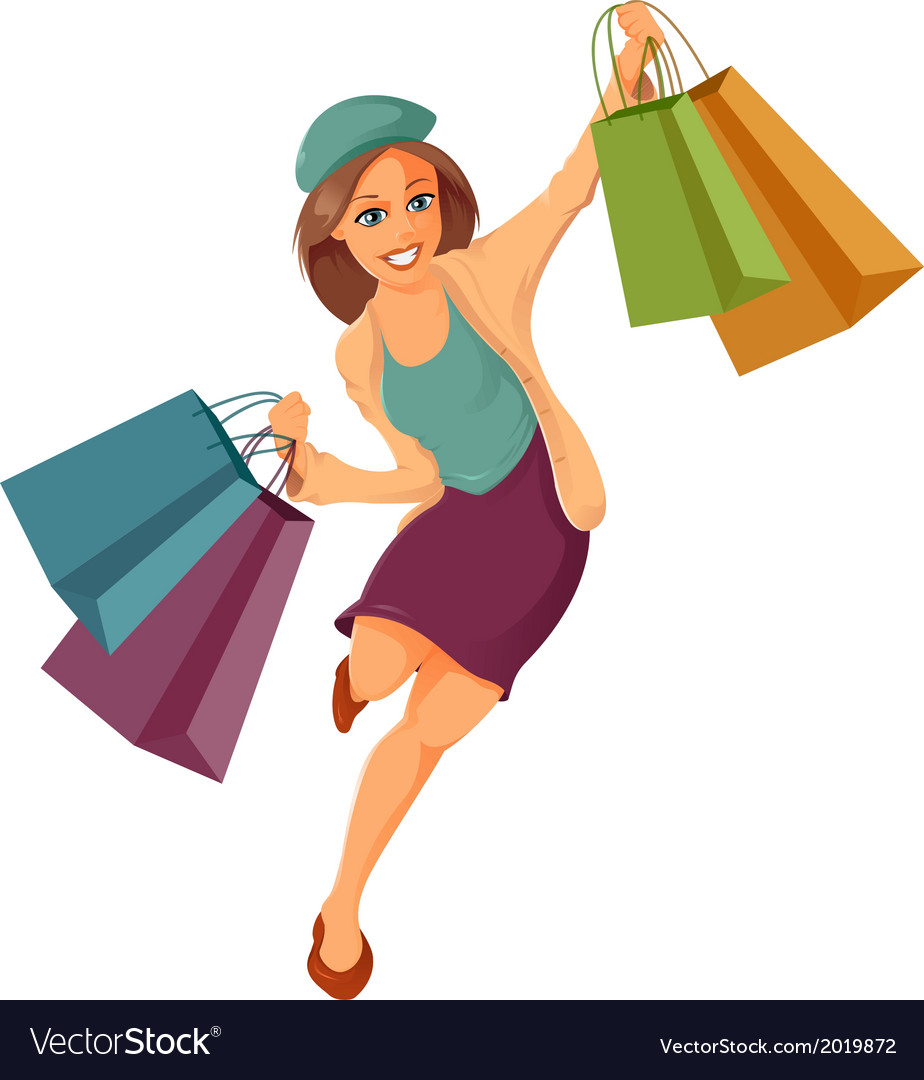 Woman is shopping vector | Price: 1 Credit (USD $1)
