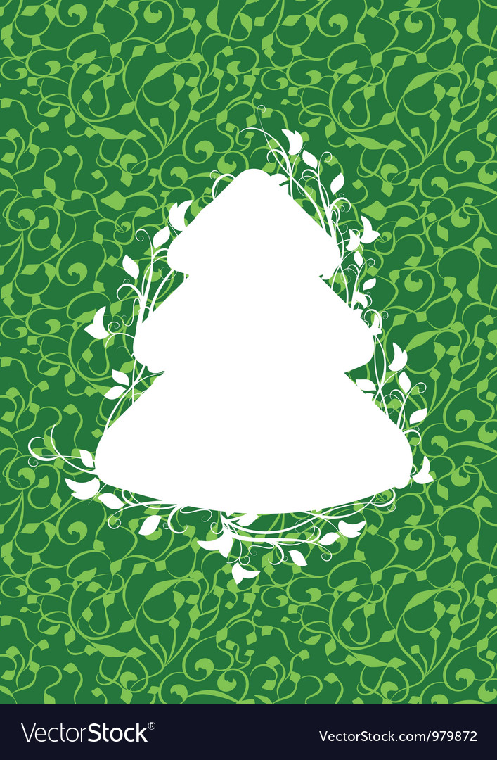 X mas fir green vector | Price: 1 Credit (USD $1)