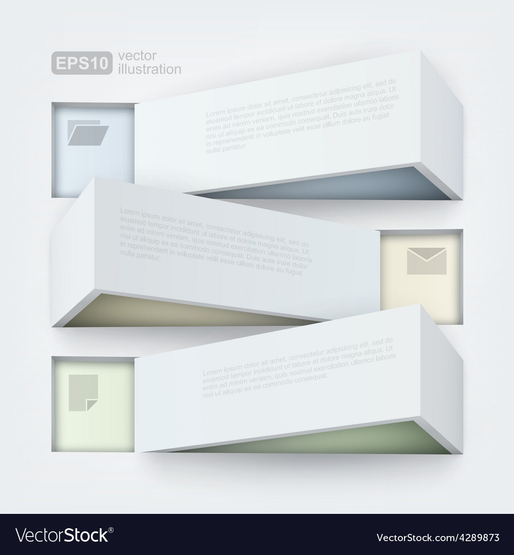 Abstract of 3d banners vector | Price: 3 Credit (USD $3)