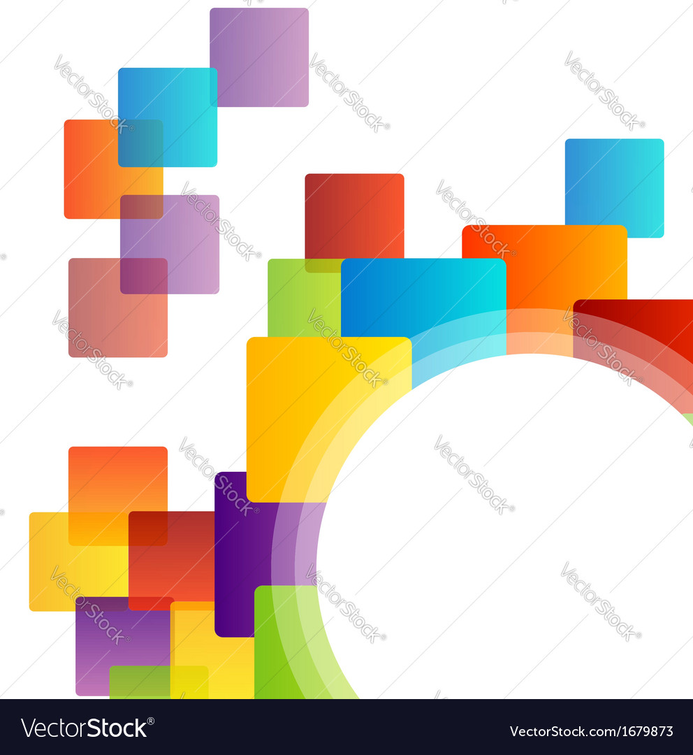 Background with colorful blocks vector | Price: 1 Credit (USD $1)