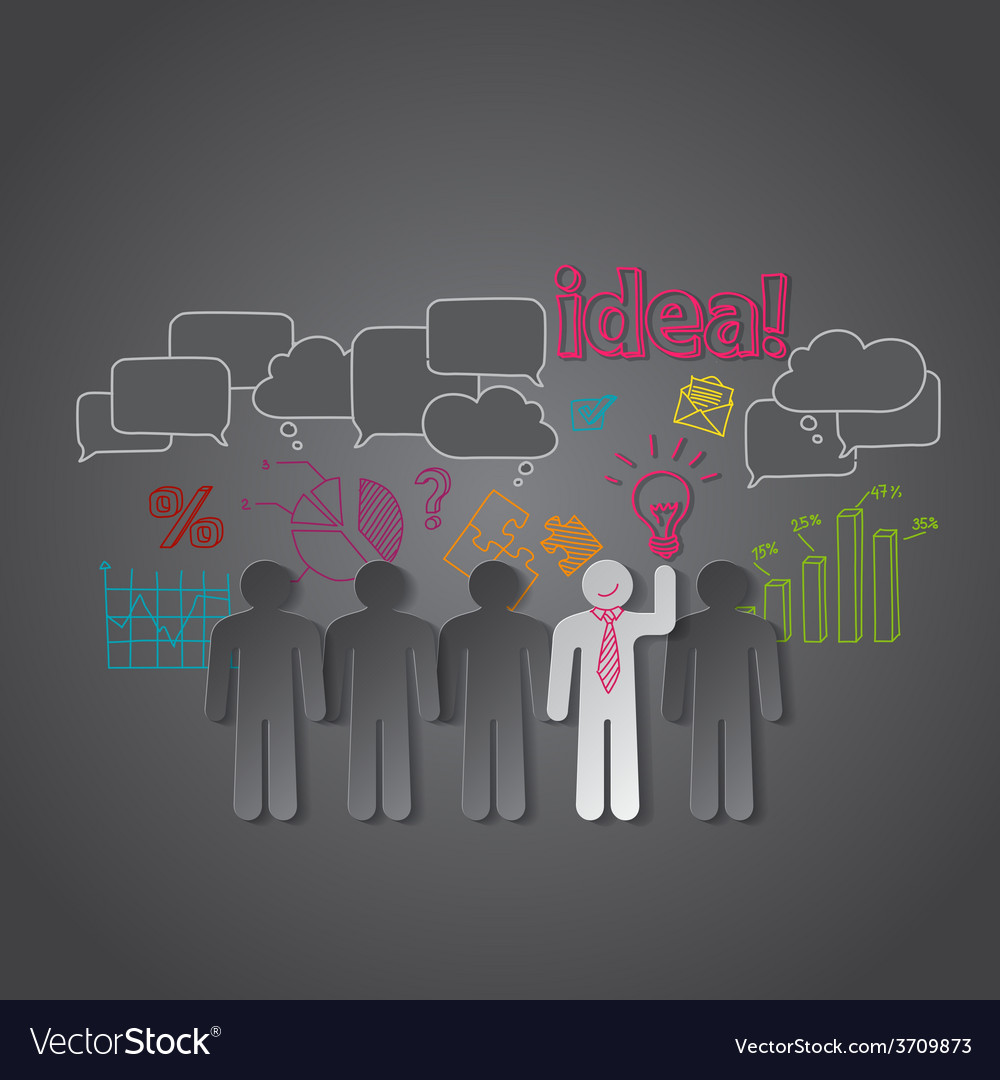 Business people discussion group teamwork idea vector   Price: 1 Credit (USD $1)