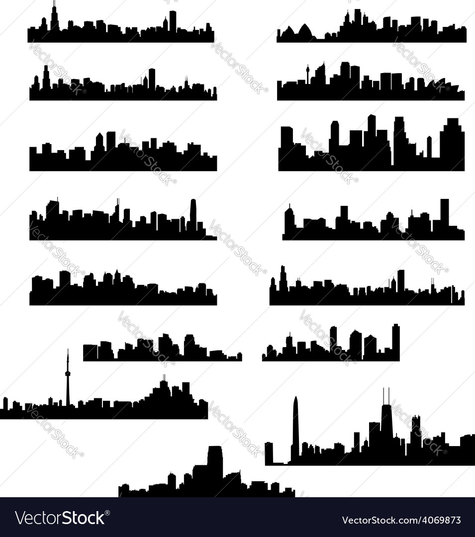 City panoramas vector | Price: 1 Credit (USD $1)