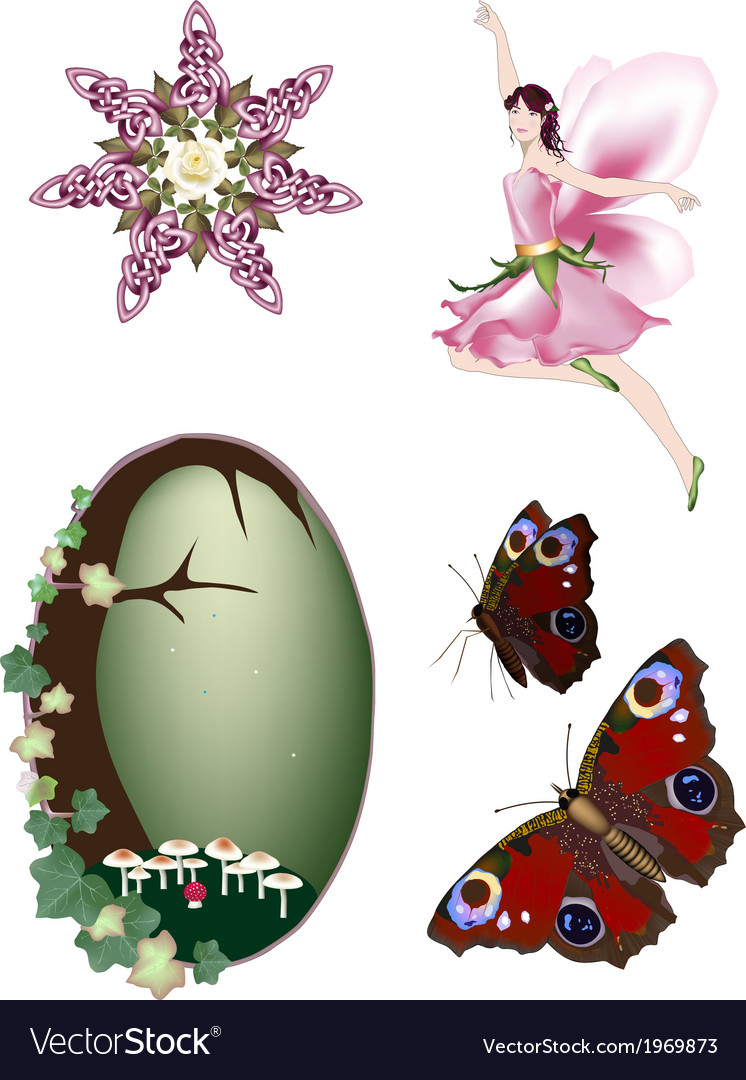 Collection of enchanted faerie vector   Price: 1 Credit (USD $1)