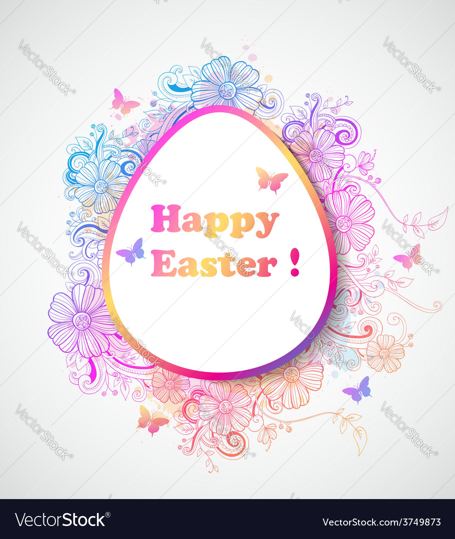 Decorative easter background vector | Price: 1 Credit (USD $1)
