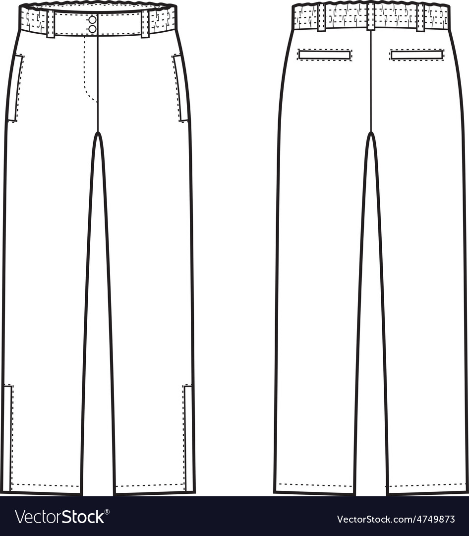 Down pants vector | Price: 1 Credit (USD $1)