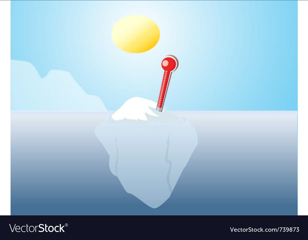 Iceberg global warming vector