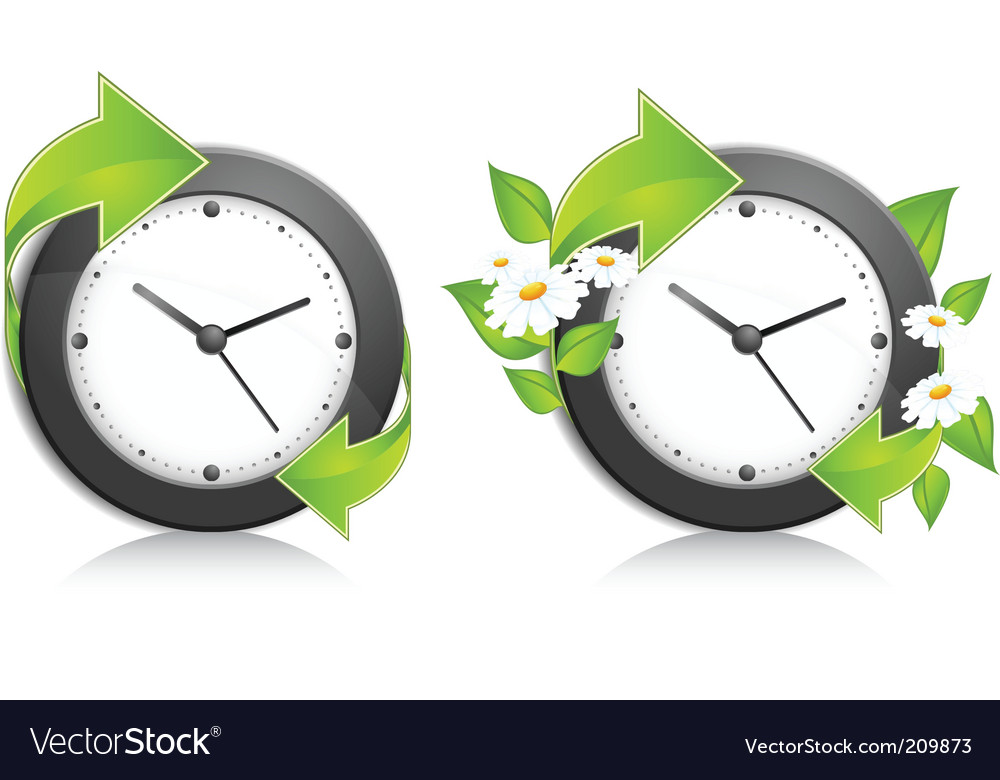 Nature clock vector | Price: 1 Credit (USD $1)