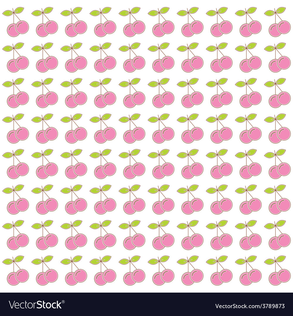 Pink cherry pattern background vector   Price: 1 Credit (USD $1)