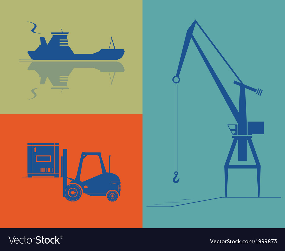 Shipping and cargo industry vector | Price: 1 Credit (USD $1)