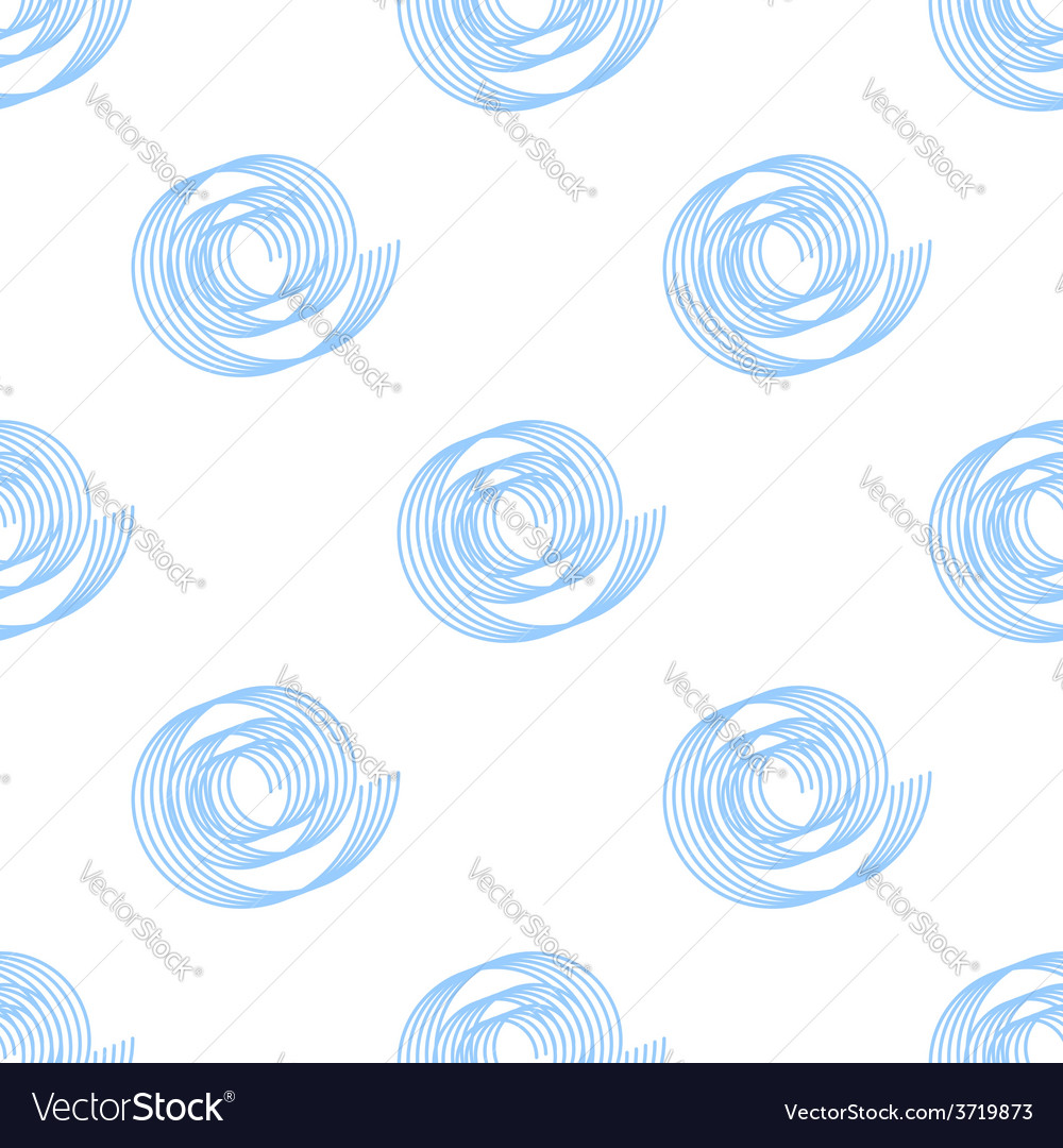 Simple background of blue spirals seamless vector | Price: 1 Credit (USD $1)