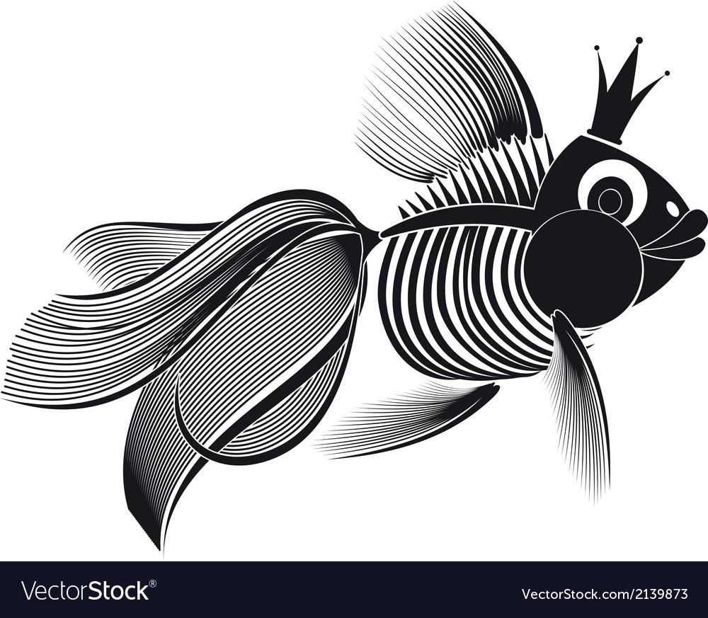 Skeleton goldfish vector | Price: 1 Credit (USD $1)