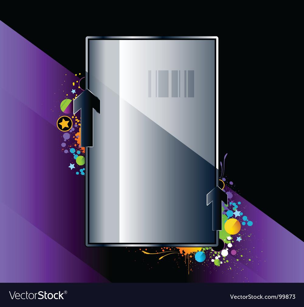 Splash glossy banner vector   Price: 1 Credit (USD $1)
