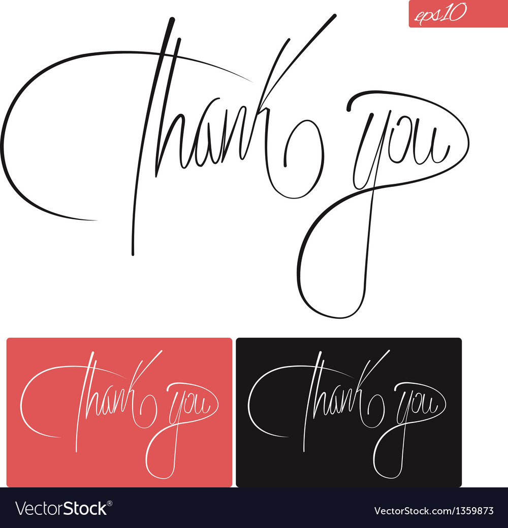 Thank you typography set vector | Price: 1 Credit (USD $1)