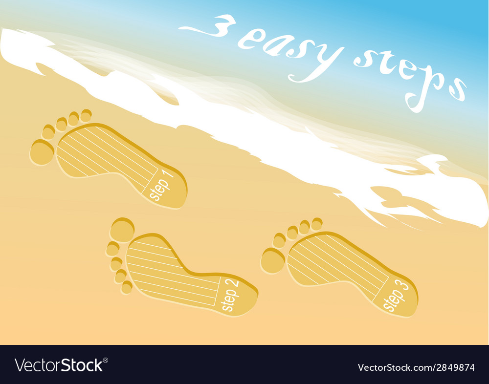 Beach steps infographic vector | Price: 1 Credit (USD $1)