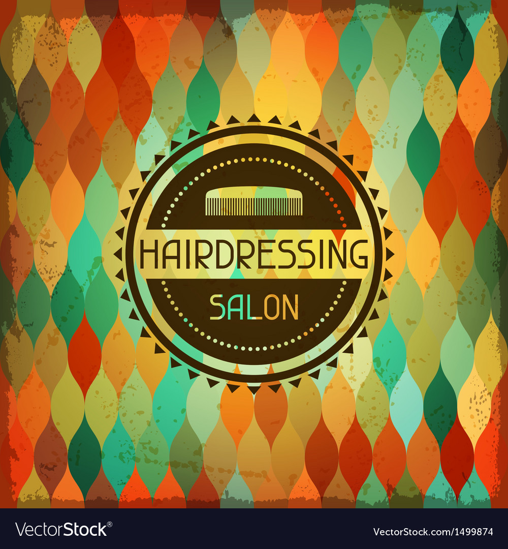 Hairdressing background in retro style vector | Price: 1 Credit (USD $1)