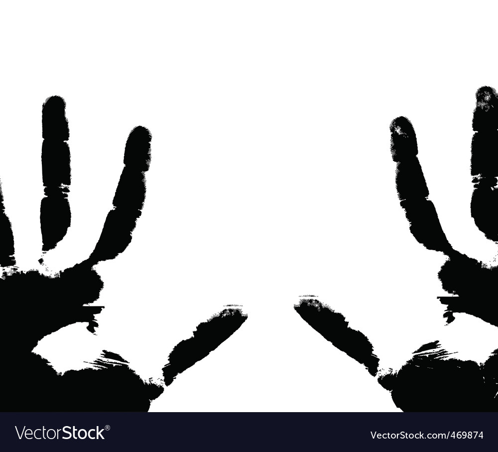 Hand prints vector | Price: 1 Credit (USD $1)