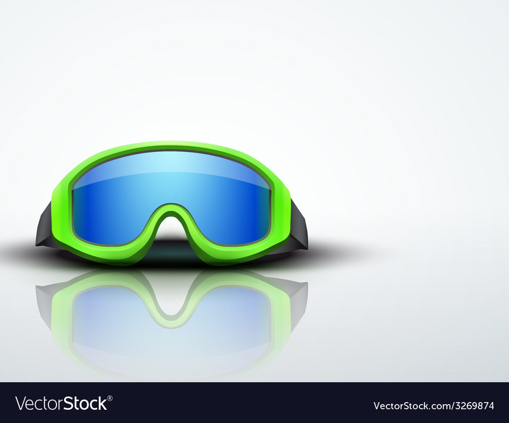 Light background with pink ski goggles vector | Price: 1 Credit (USD $1)