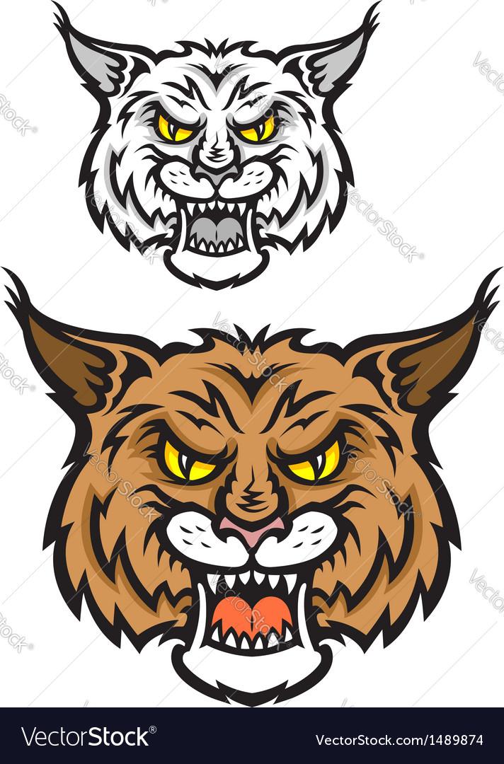 Lynx mascot vector | Price: 1 Credit (USD $1)