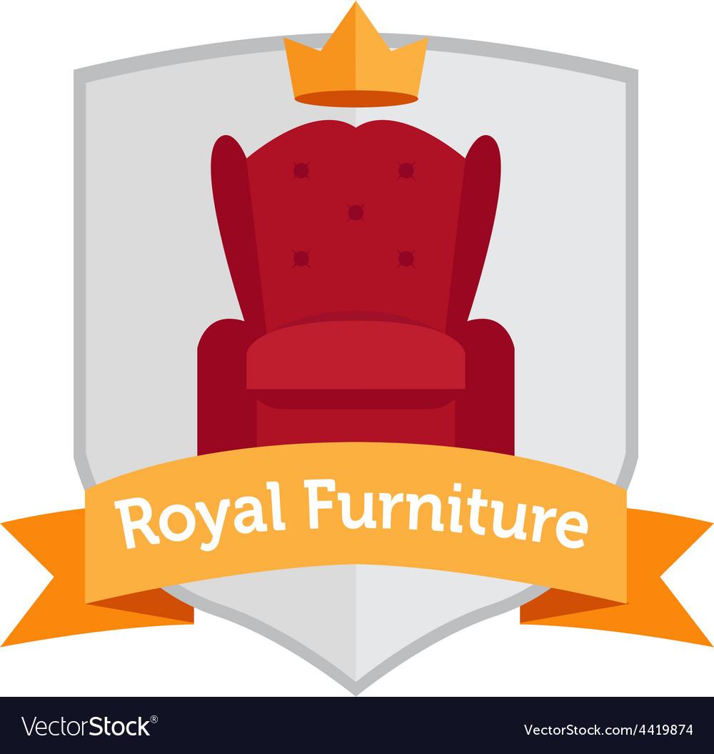Modern flat furniture shop logo vector | Price: 1 Credit (USD $1)