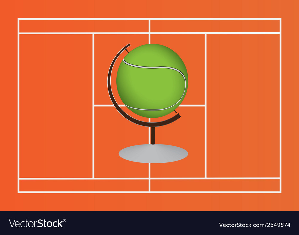 Tennis ball design vector | Price: 1 Credit (USD $1)