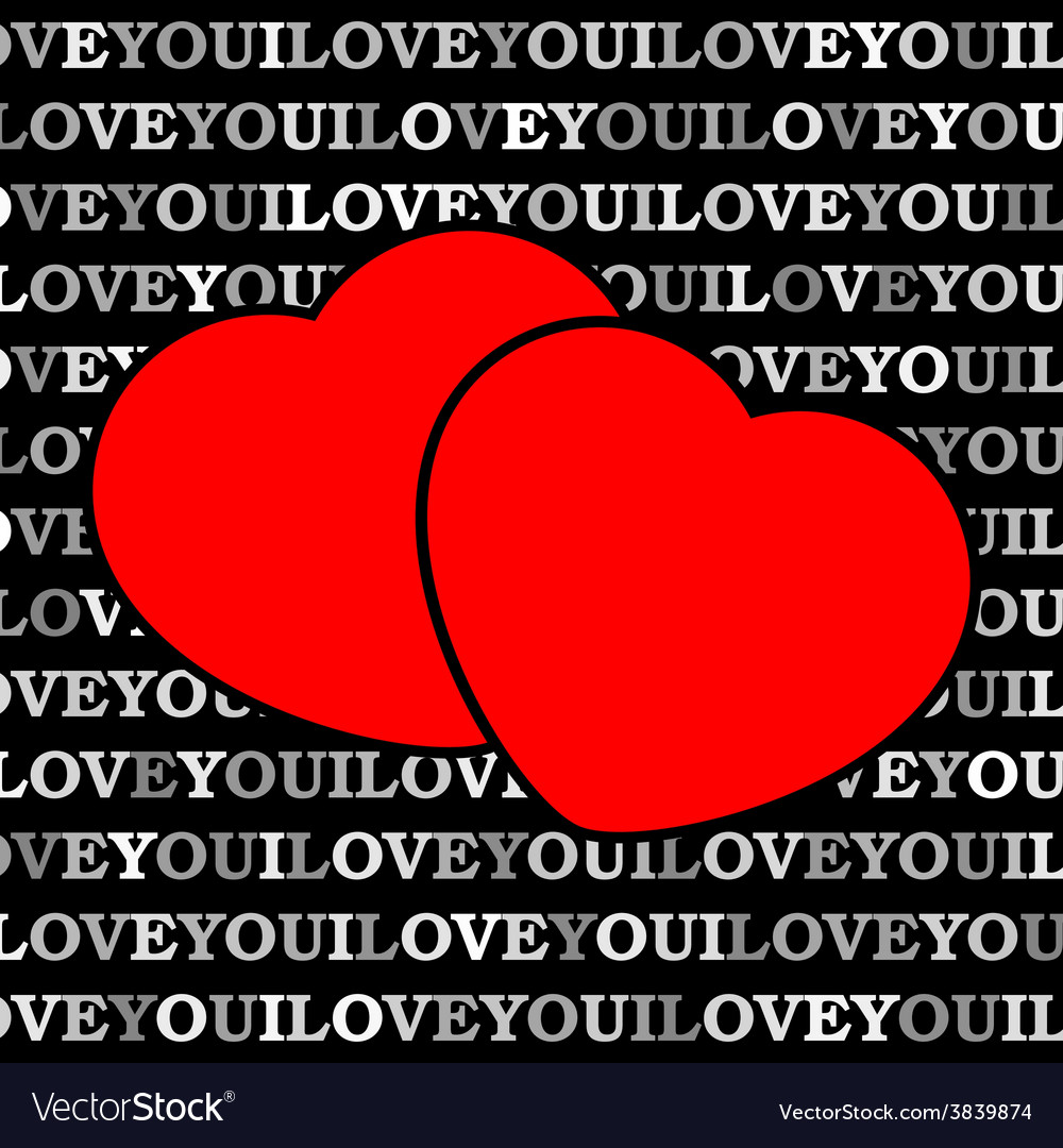 Two red hearts in front of a black background vector   Price: 1 Credit (USD $1)