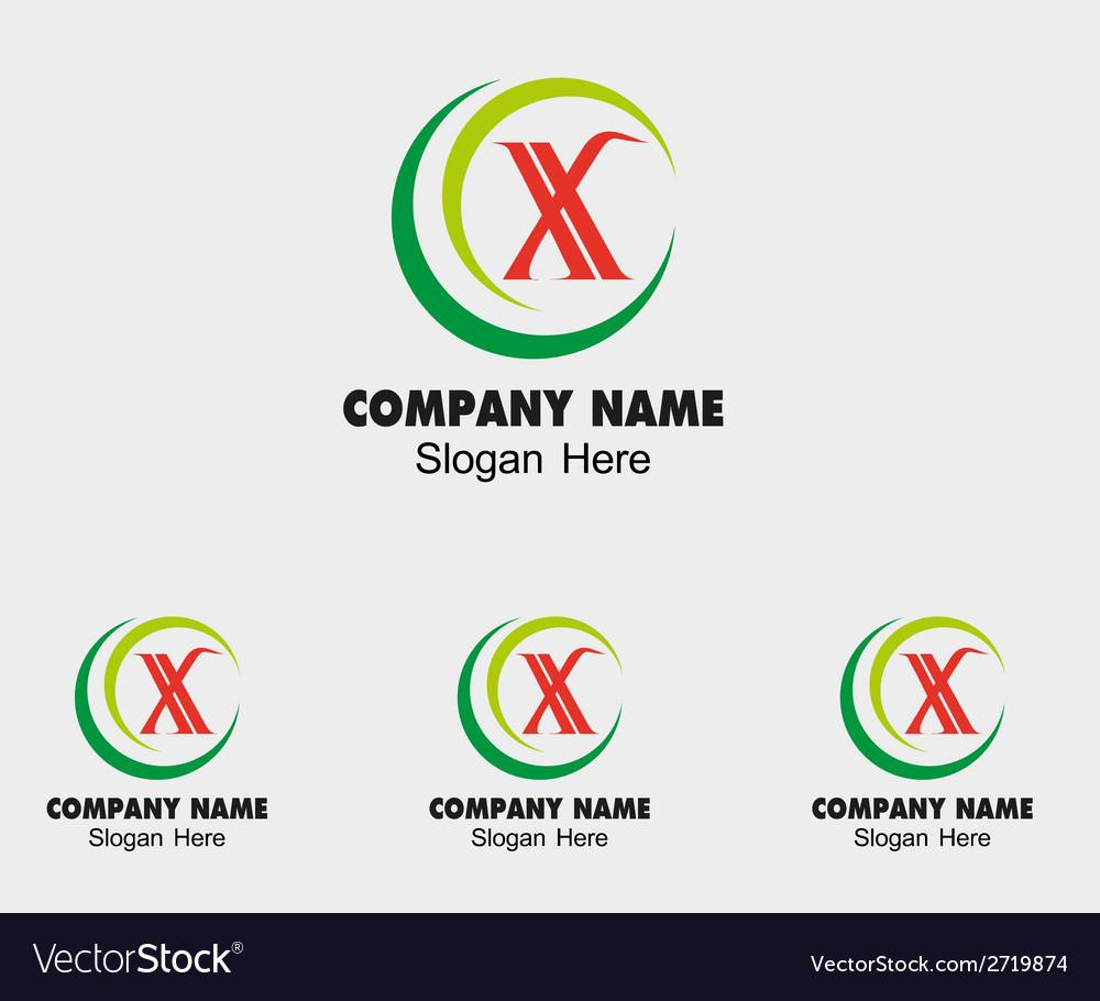 X icon logo letter x vector | Price: 1 Credit (USD $1)