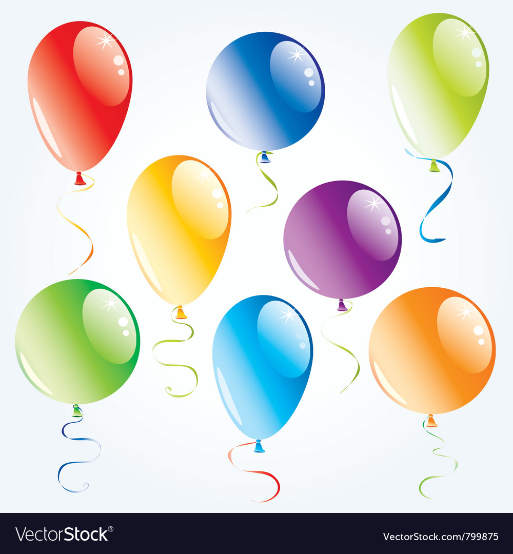 Air balloons set vector | Price: 1 Credit (USD $1)