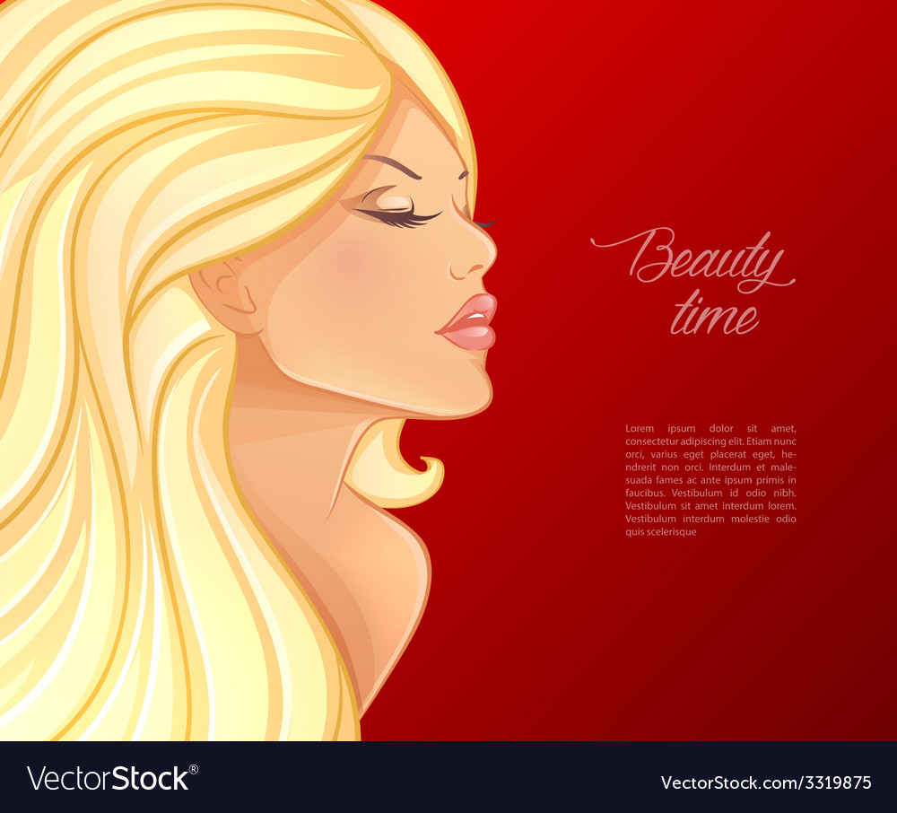 Beautiful and young woman vector | Price: 3 Credit (USD $3)