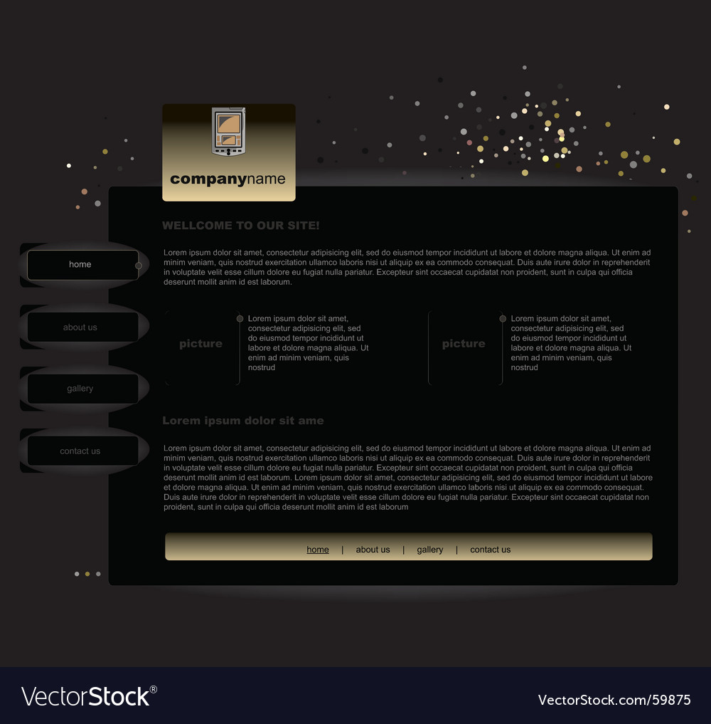 Black website vector | Price: 1 Credit (USD $1)