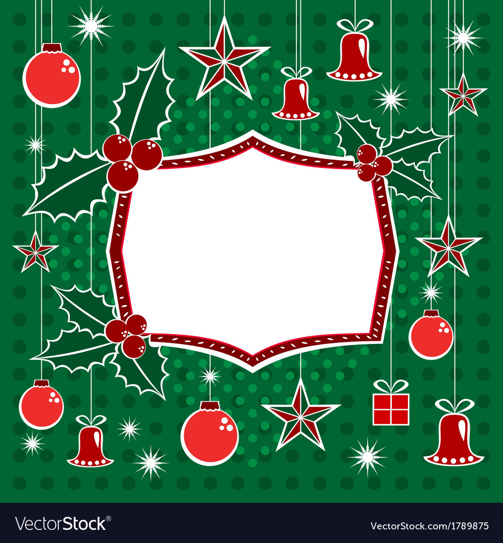 Christmas decorations and banner vector | Price: 1 Credit (USD $1)