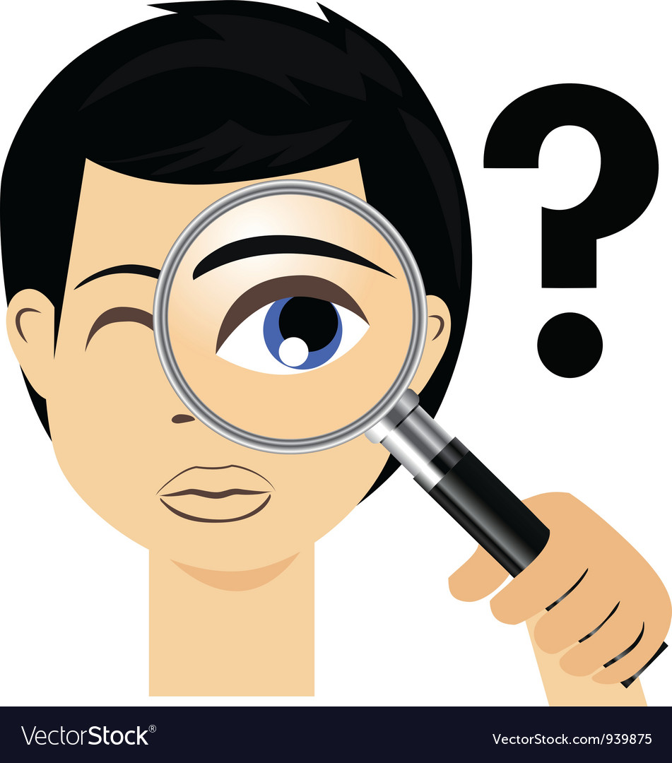 Detective with magnifying glass vector | Price: 3 Credit (USD $3)