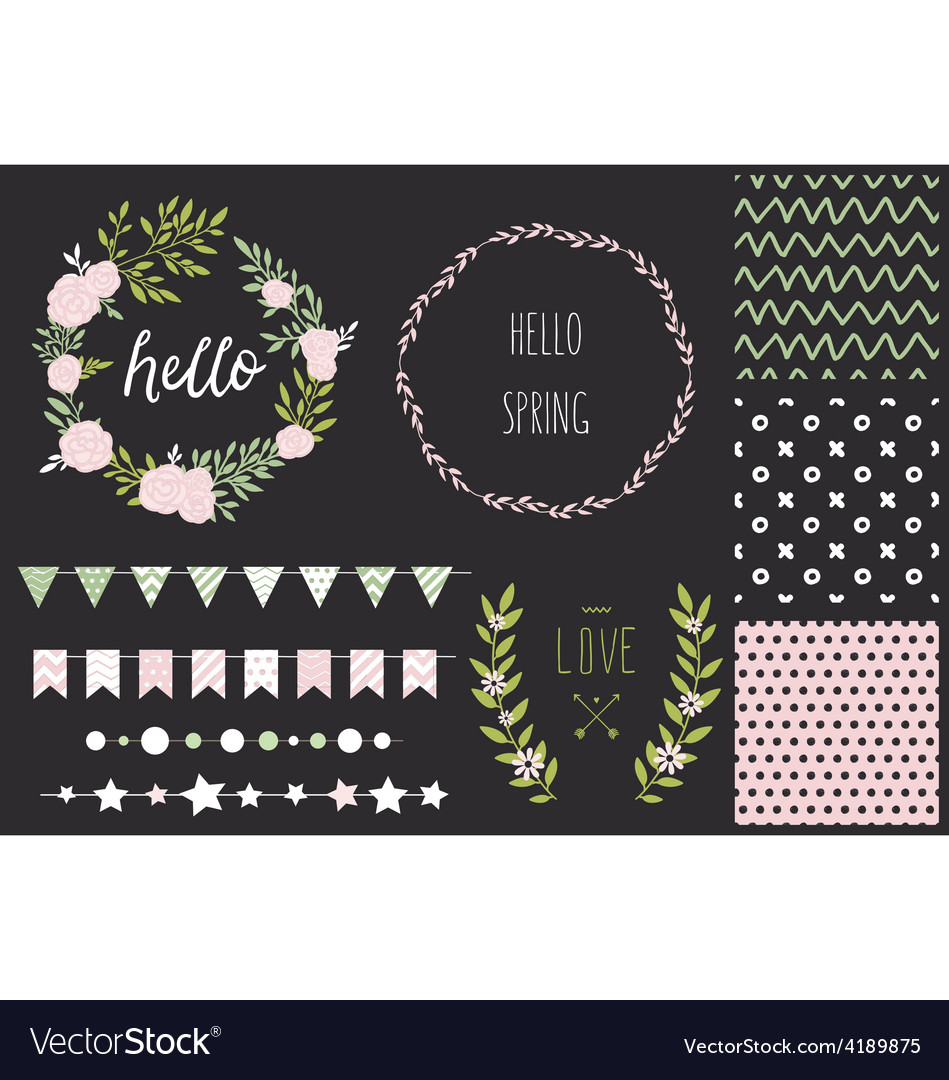 Hand drawn love collection vector | Price: 1 Credit (USD $1)