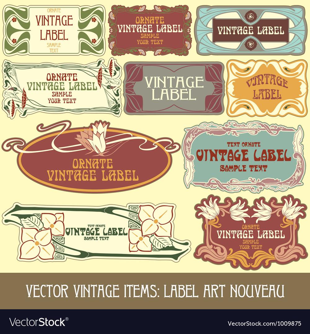 Label art nouveau vector   Price: 3 Credit (USD $3)