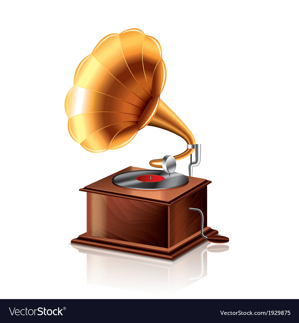 Object gramophone vector | Price: 1 Credit (USD $1)