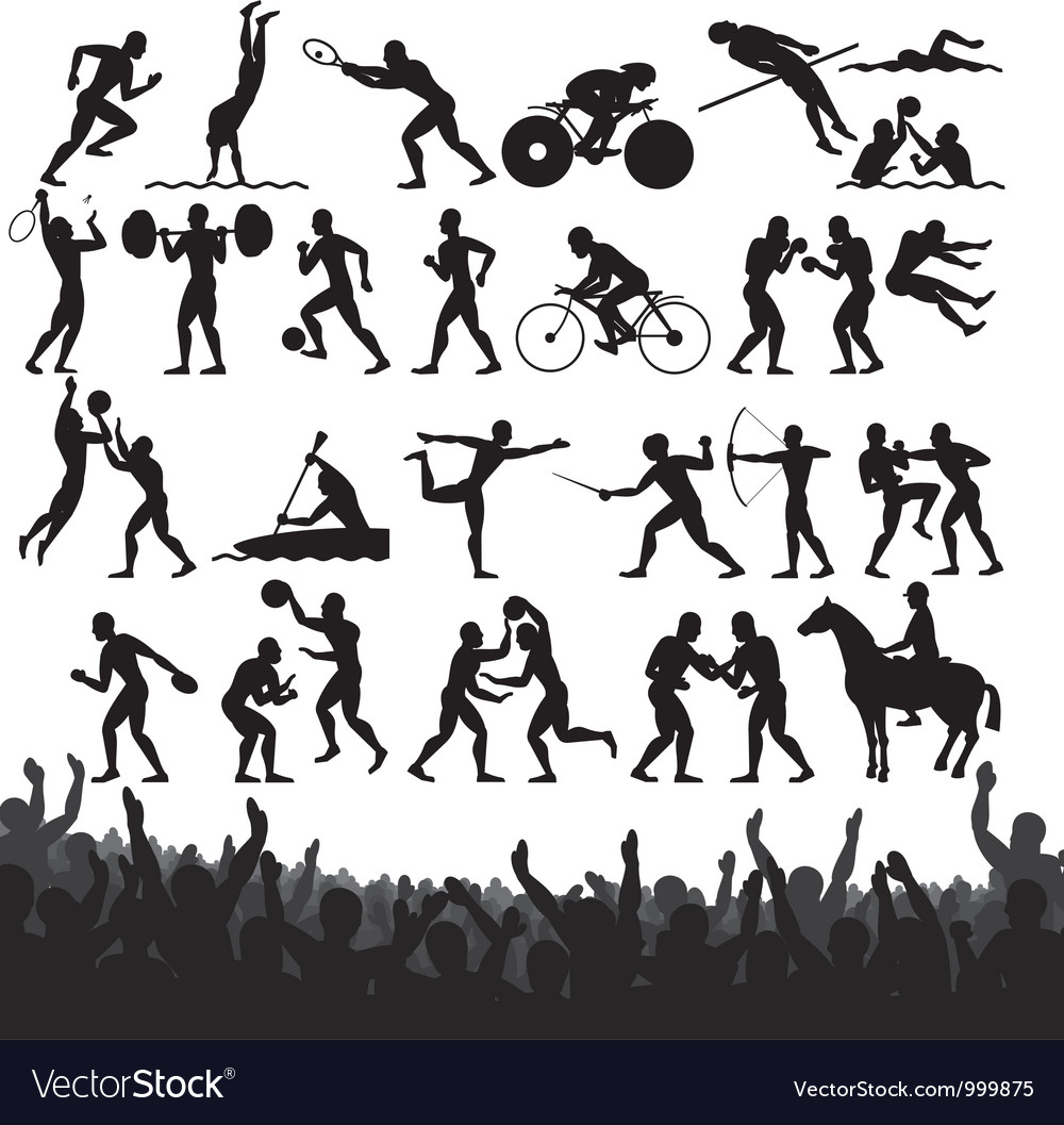 Olympic sport silhouettes vector | Price: 1 Credit (USD $1)