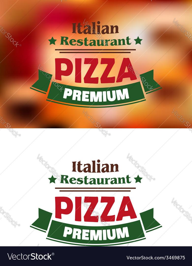 Premium italian pizza labe vector | Price: 1 Credit (USD $1)