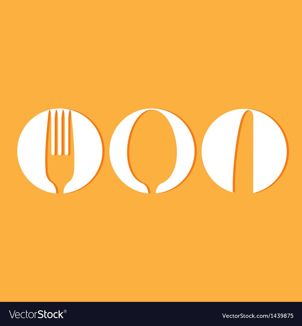 Restaurant menu design whit cutlery symbols vector | Price: 1 Credit (USD $1)