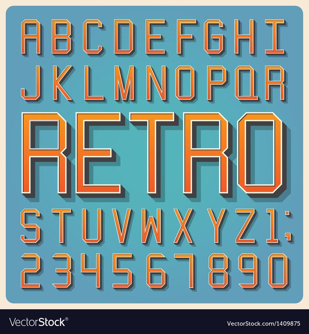 Retro type font vintage typography vector | Price: 1 Credit (USD $1)