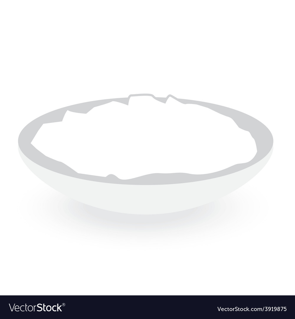 Rice bowl isolated on white background vector | Price: 1 Credit (USD $1)