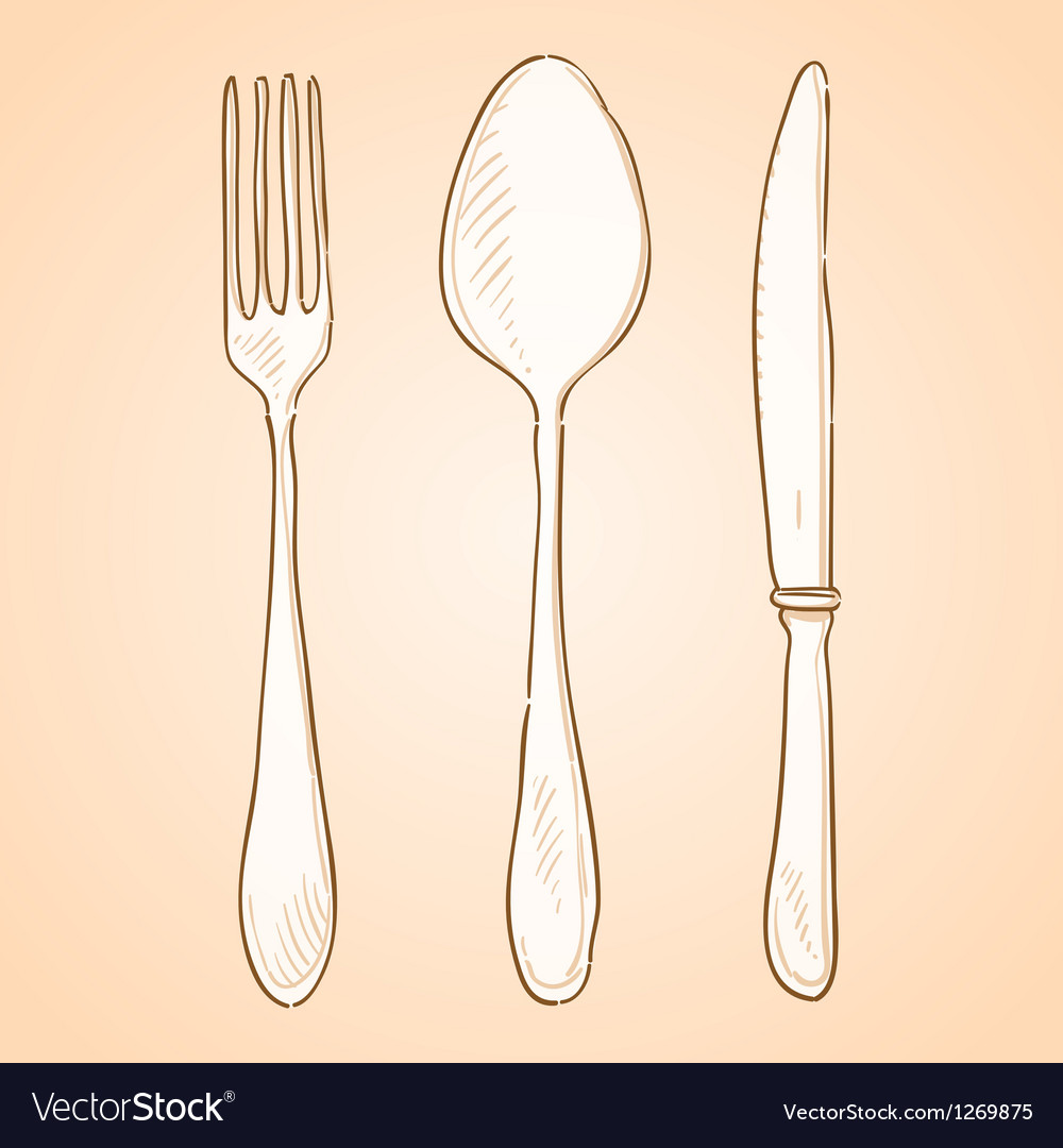Rough cutlery vector | Price: 1 Credit (USD $1)