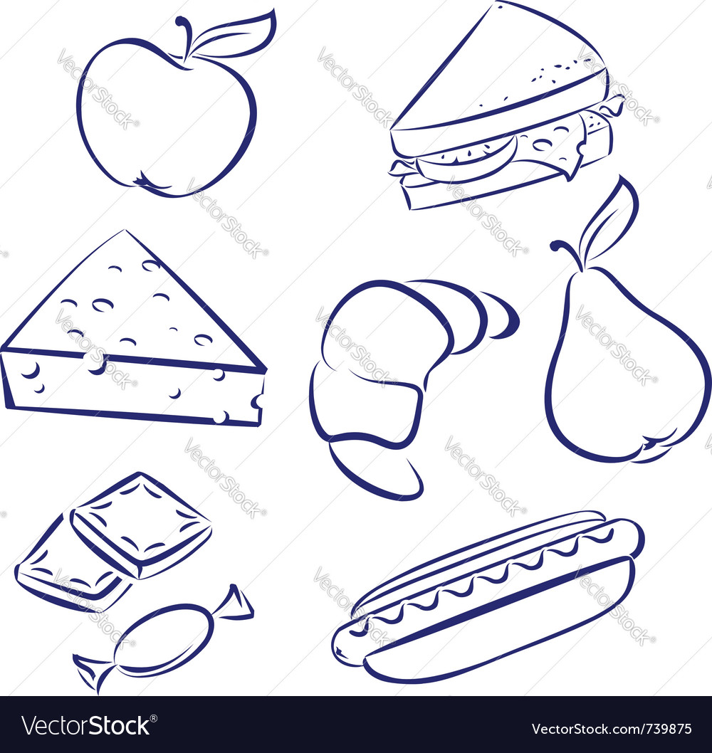 Set a morning meal vector | Price: 1 Credit (USD $1)