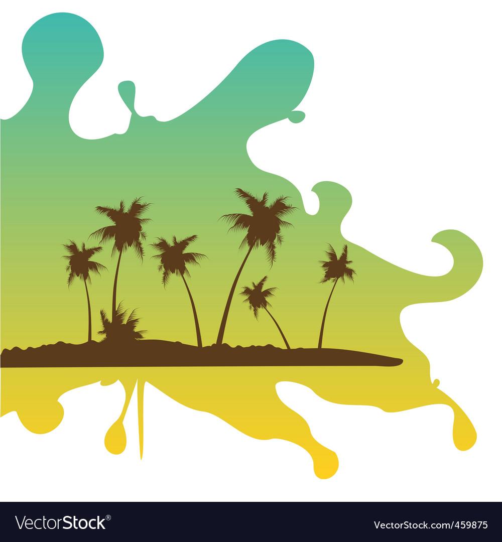 Tropical retreat on splash vector | Price: 1 Credit (USD $1)