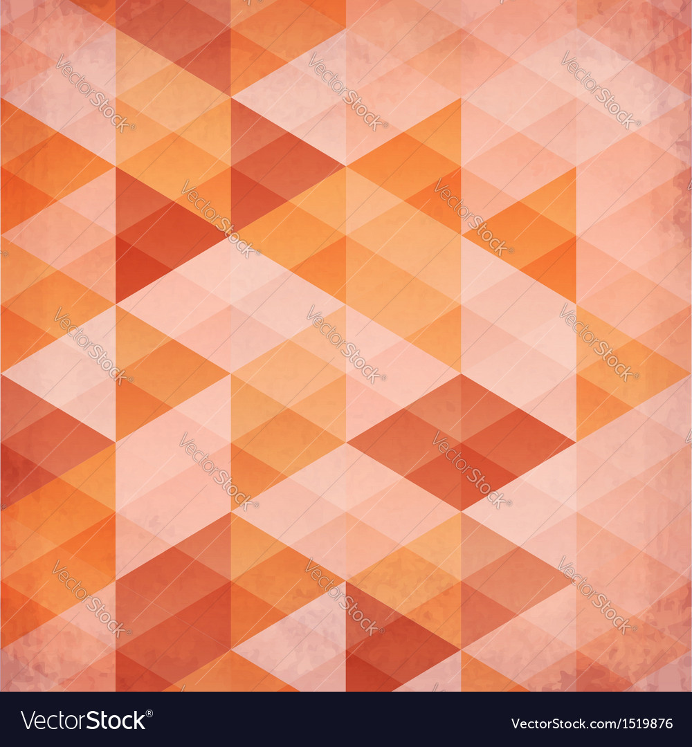 Abstract triangles vintage orange background vector | Price: 1 Credit (USD $1)