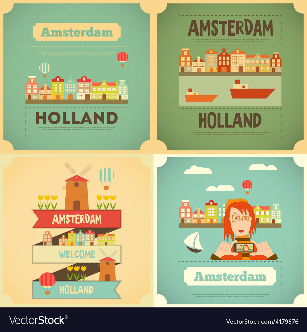 Amsterdam set vector | Price: 1 Credit (USD $1)