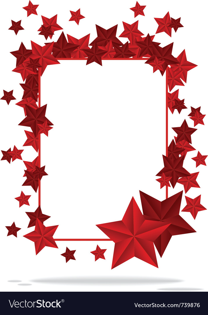 Background star frame vector | Price: 1 Credit (USD $1)