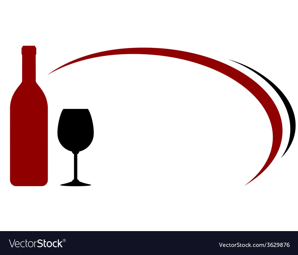 Background with red wine bottle and glass vector | Price: 1 Credit (USD $1)